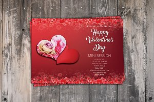 Valentines Day Mini Session Card