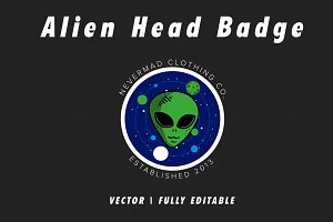 Alien T-shirt Design Template