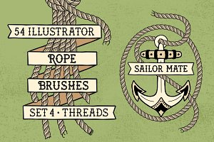 Sailor Mate's Rope Brushes IV