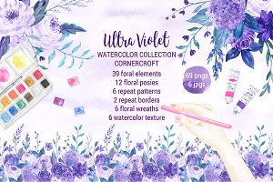 Watercolor Ultra Violet Collection