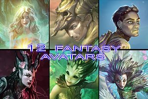 12 Fantasy Avatars/Icons