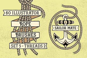 Sailor Mate's Rope Brushes V