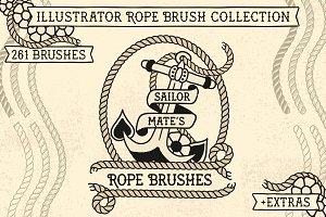 Sailor Mate´s Rope Brush Collection
