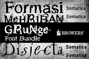 Grunge Font Bundle