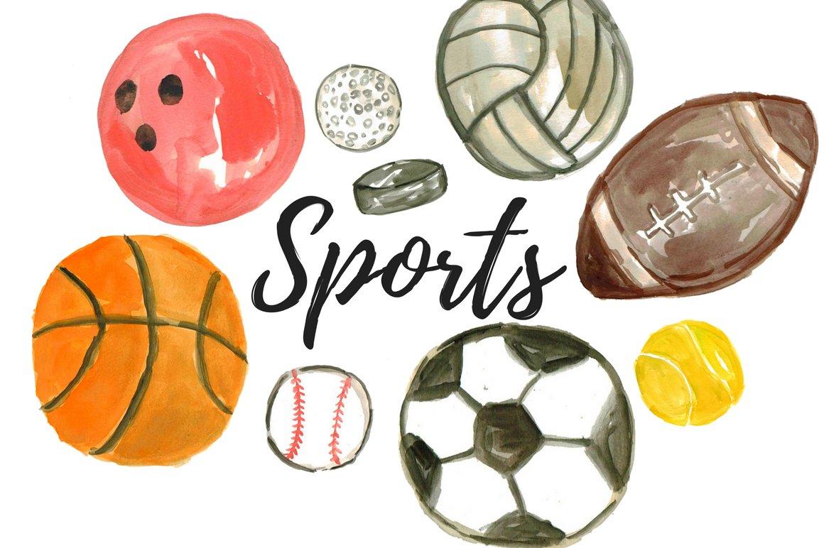clipart sport balls sports watercolor practice medicine global belvieu mont