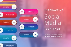 Interactive Social Media Icon Pack