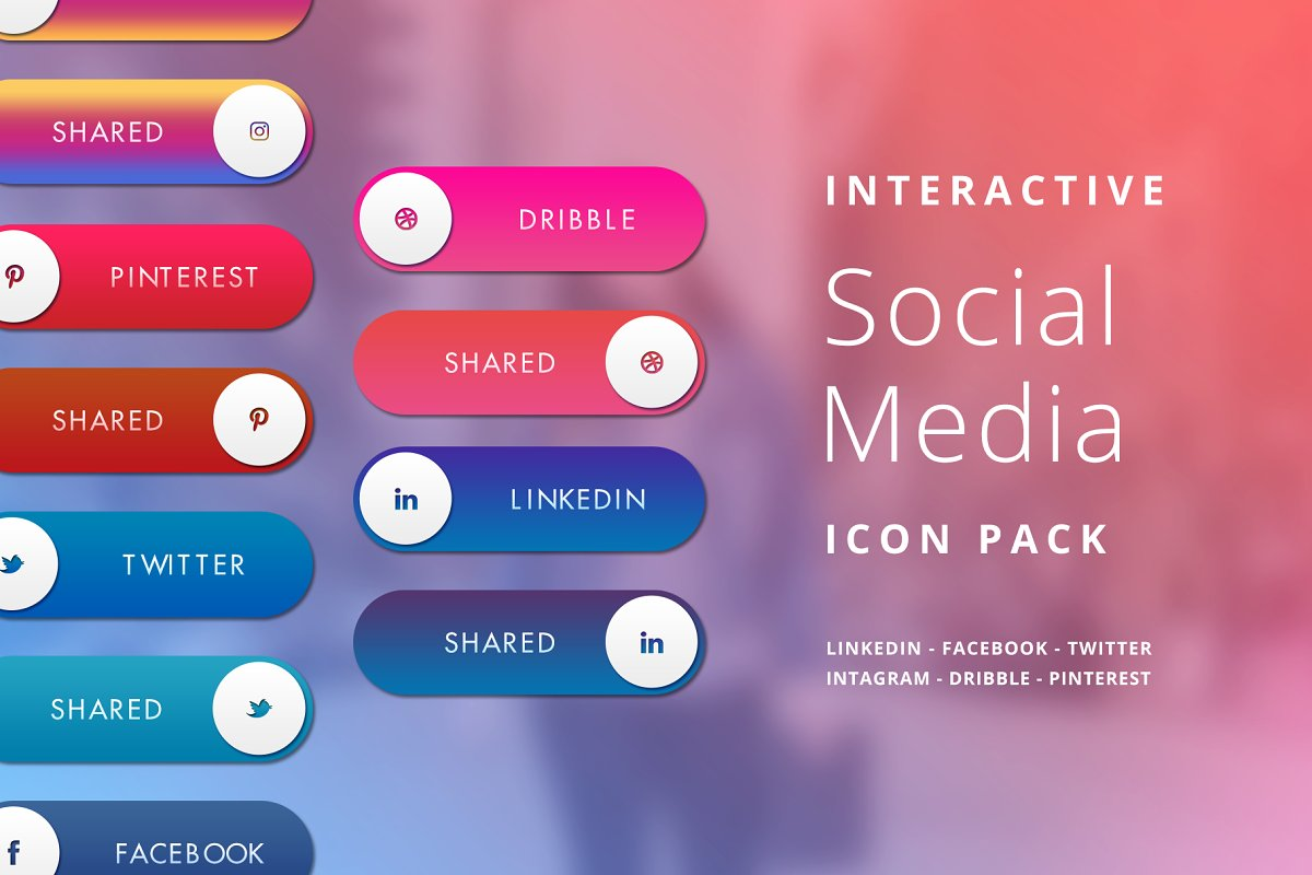 Interactive Social Media Icon Pack in Icons