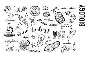 Biology Doodle Illustrations