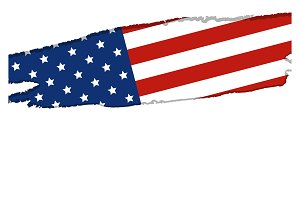USA or America flag background
