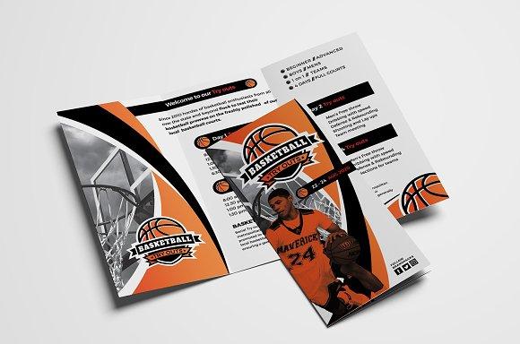 basketball tri fold brochure brochure templates creative market