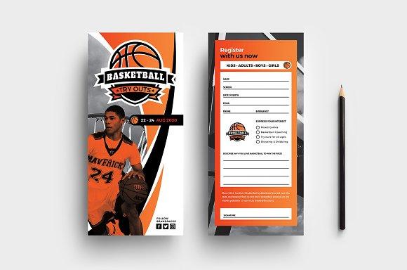 DL Basketball Rack Card Template