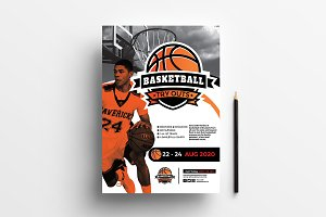 A4 Basketball Poster Templates