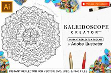 Vector Kaleidoscope for Adobe Ai by Calvin Drews in Plug-ins