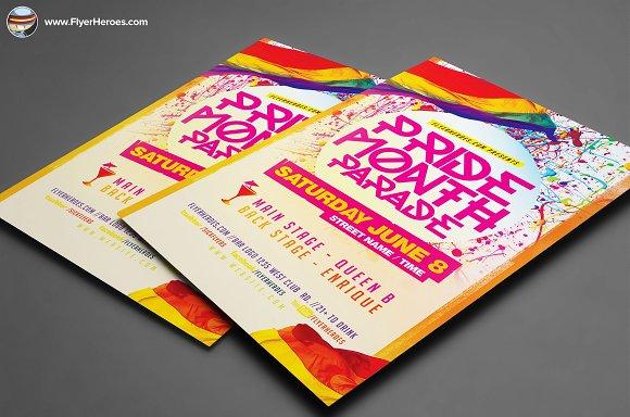 pride parade flyer template flyer templates creative daddy