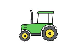 Tractor color icon