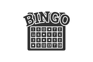 Bingo game glyph icon