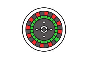 Roulette color icon