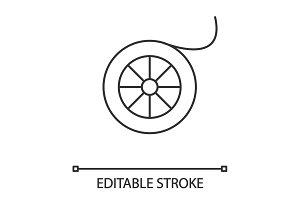Fishing line spool linear icon