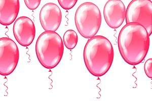 Set of Colorful Balloons backgrounds