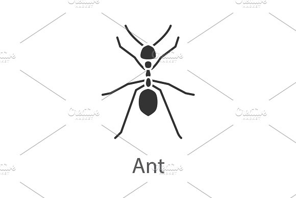 Ant glyph icon