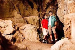 Young Couple In Cave