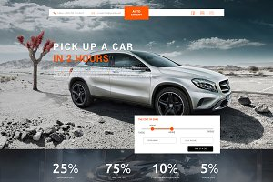Landing Page for selection of cars