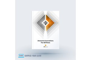 Abstract design of business vector brochure for brand printing