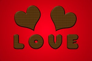Love letters hearts chocolate valentine red