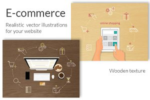 E-commerce realistic illustrations