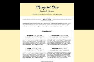 Vintage Resume & Letter Template
