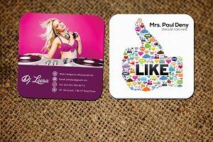 DJ Social Media Business Card