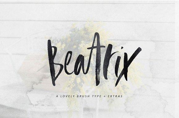 Beatrix Brush Font Extras