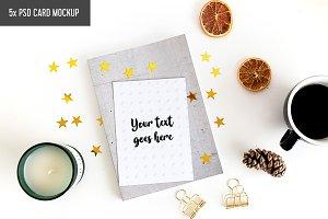 Minimal Postcard Mockups