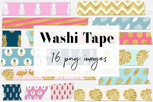 Exotic Washi Tape Clipart
