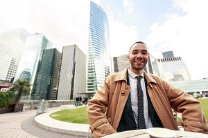 Black Businessman In La Defense, Paris