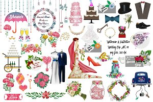 Watercolor & Illustrative Wedding
