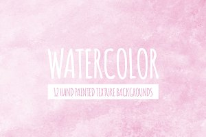Pink Watercolor Texture Backgrounds