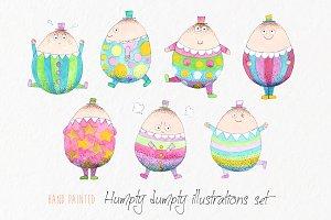 Watercolor Humpty Dumpty Clip art