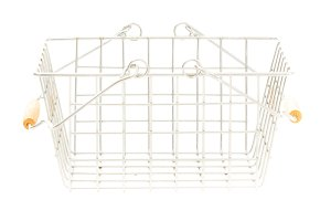 Empty Shopping Basket On White, Side View