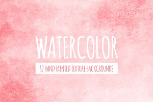 Coral Red Watercolor Backgrounds