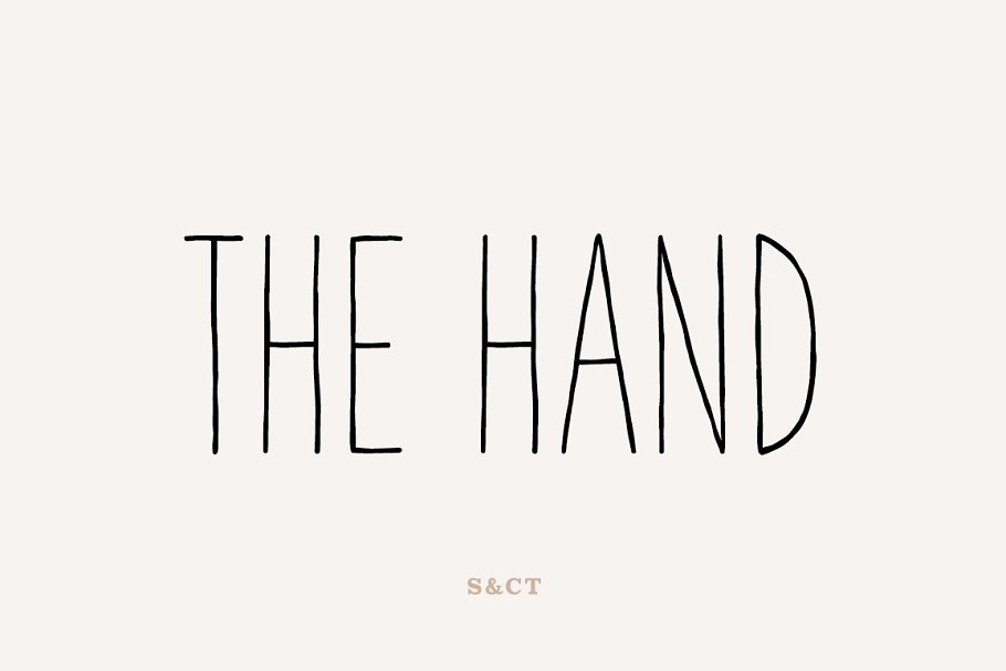 The Hand - hand drawn font