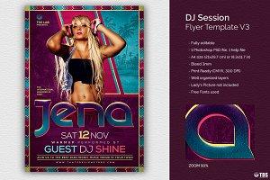DJ Session Flyer Template V3