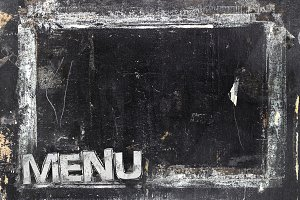 Grungy restaurant menu template