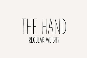 The Hand Font - Regular
