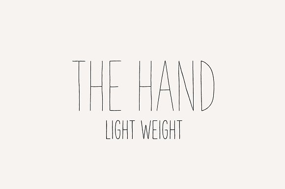 The Hand Font Light