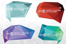 Vector polygonal banner