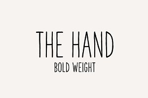 The Hand Font (Bold weight)