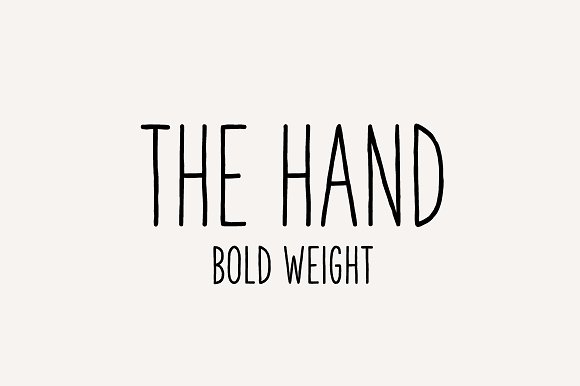 The Hand Font Bold