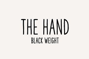 The Hand Font (Black weight)