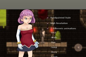 Character Spritesheet:Magician Girl